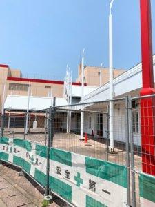 メガドンキ福重の外観工事画像