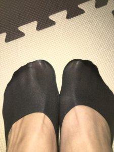ココピタを履いた両足の画像