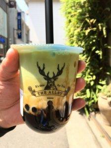 ジアレイ黒糖抹茶ラテを人気メニューから選んで購入した画像